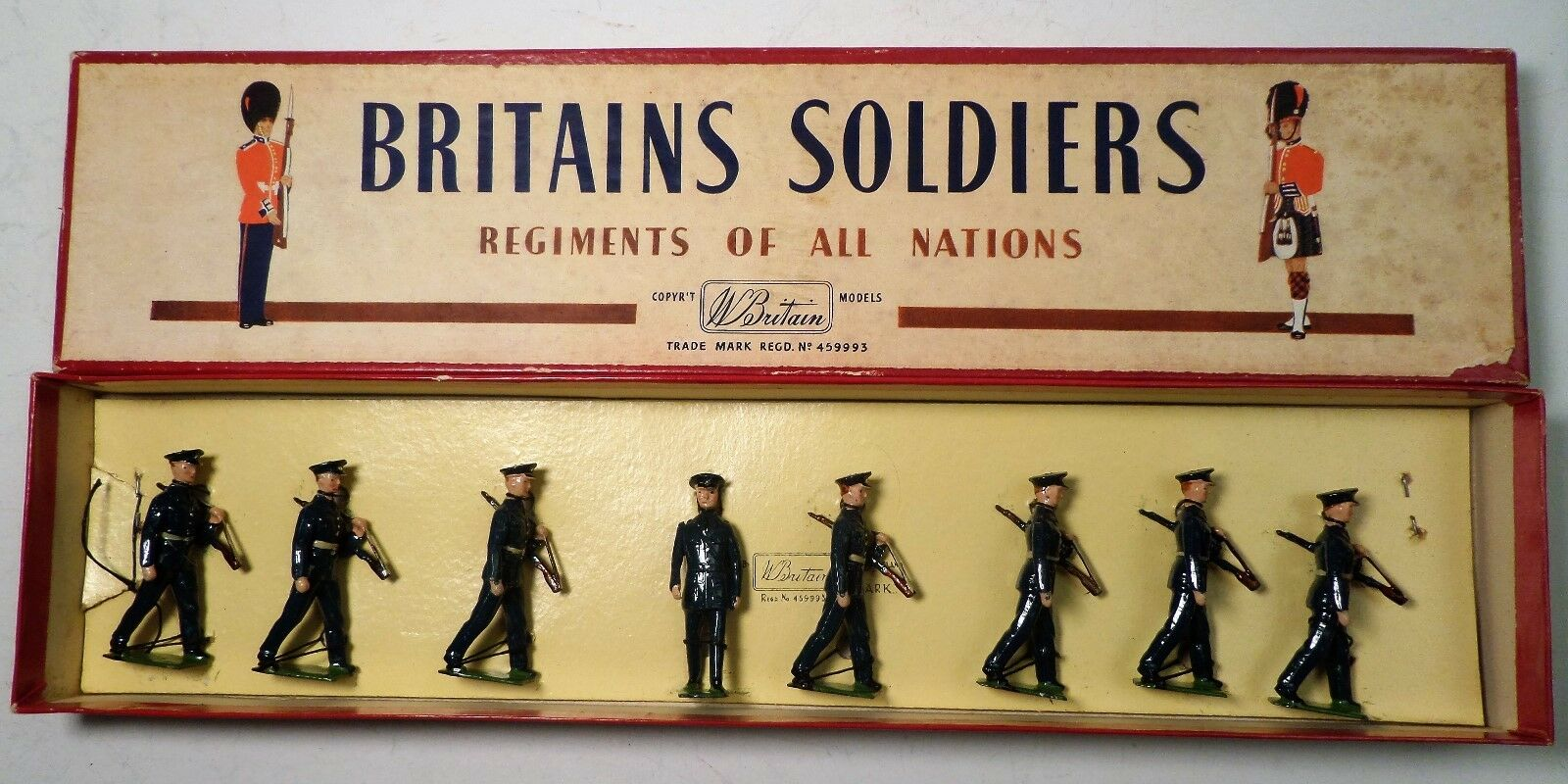 Britain Toy Soldiers United States Air Air Air Corps w  Officer & Box c405d0