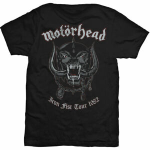 Motorhead: 'Iron Fist Tour 1982' Vintage Style T-Shirt *Official Merchandise*