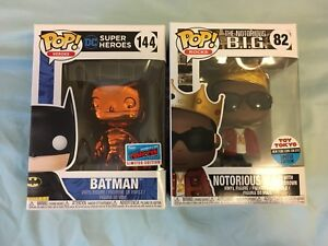 Batman-Orange-Chrome-amp-Notorious-Big-Toy-Tokyo-NYCC-2018-Funko-Pop-Exclusive