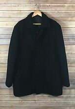 Black rivet quilted lined wool coat