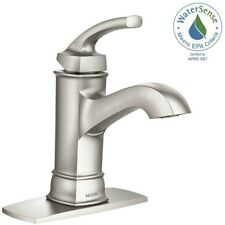 Bathroom Faucet Single Hole 1 Handle Spot Resistant Brushed Nickel Finish