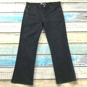 Kut-From-The-Kloth-Womens-Jeans-sz-14-Dark-Wash-Trouser-Straight-Cotton-Stretch