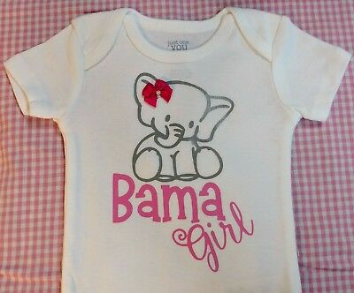 alabama roll tide bama baby girl bodysuit   eBay
