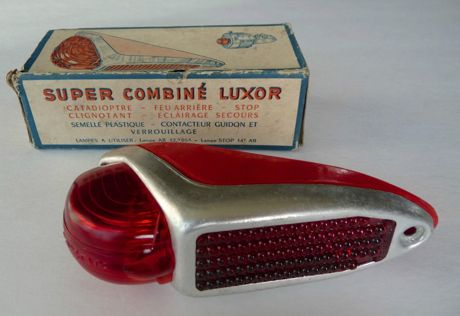 Luxor Luz De La Cola Luz Reflector & Dynamo Fender Vintage 28 Herse Routens Nuevo Viejo Stock
