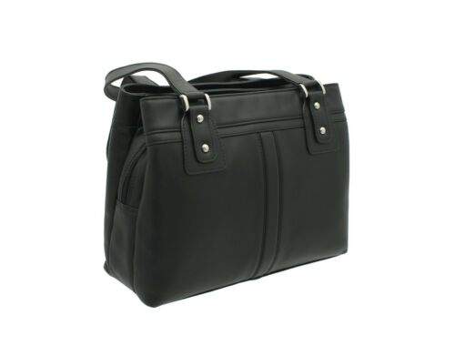 Visconti ClaraM Leather Shoulder Bag 19476 Black