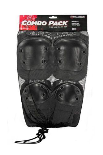 187 Combo Pack Knee//Elbow Pad Set Black