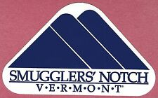 SMUGGLERS NOTCH VERMONT RESORT AREA SKI SNOWBOARD STICKER DECAL