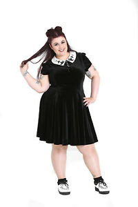 7b16cd0320 Image is loading Hell-Bunny-Plus-Size-Gothic-Wednesday-Addams-Casper-