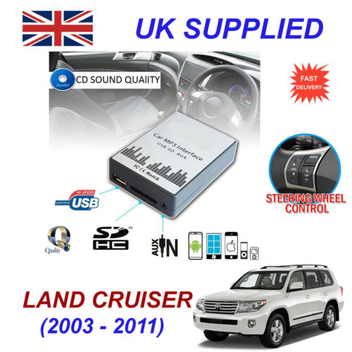 Land Cruiser Mp3 Sd Usb Cd Aux entrada Adaptador De Audio Digital cambiador de CD módulo