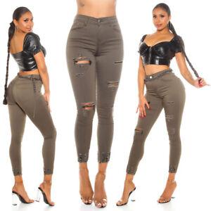 Jeans Ladies High Waist Skinny Jeans Denim Used