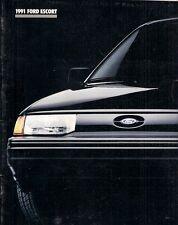 Ford Escort 1991 USA Market Sales Brochure Pony LX GT Wagon