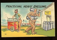 Practicing Heavy Shelling Ordinance Supply Roasted Peanuts Army Old Postcard 385