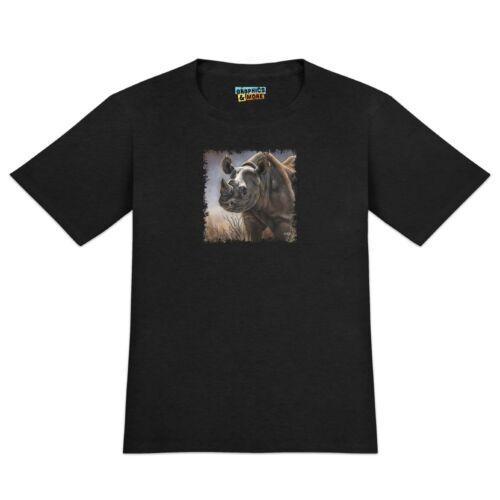 Black Rhino Rhinoceros Men/'s Novelty T-Shirt