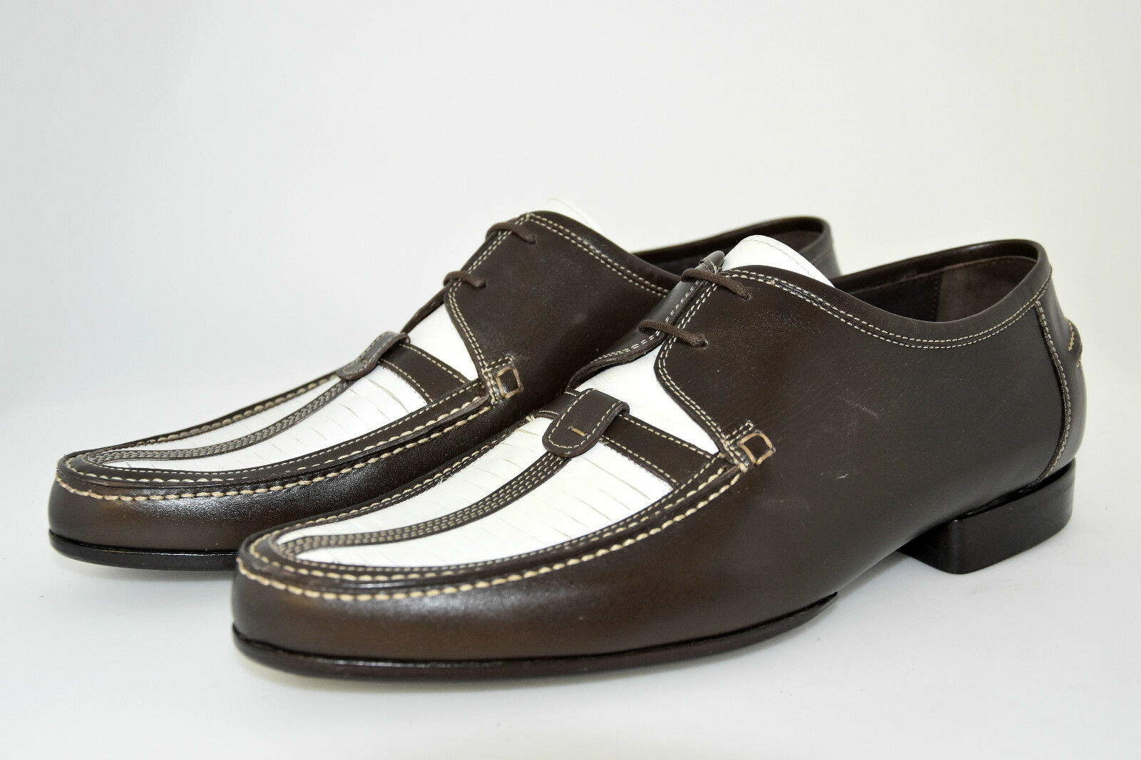 MAN-8eu-9usa-DERBY-DARK BROWN+WHITE CALF-VITELLO T.MORO-LEATHER T.MORO-LEATHER T.MORO-LEATHER SOLE-SUOLA CUOIO 8a4418
