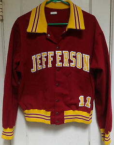 #11 Vintage JEFFERSON COLLEGE CANNONEERS Basketball Warm Up Jacket