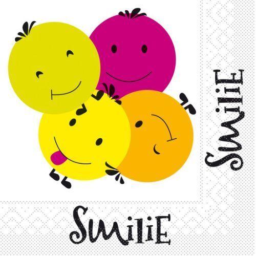 5 SERVIETTEN NAPKINS SMILIE BOYS /& GIRLS 33 X 33 CM LUSTIGE KINDERSERVIETTEN