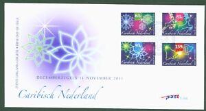 éNergique Caribisch Nederland Pays-bas 2011-noël Christmas Noël Jul 19-22 Fdc Marchandises De Proximité