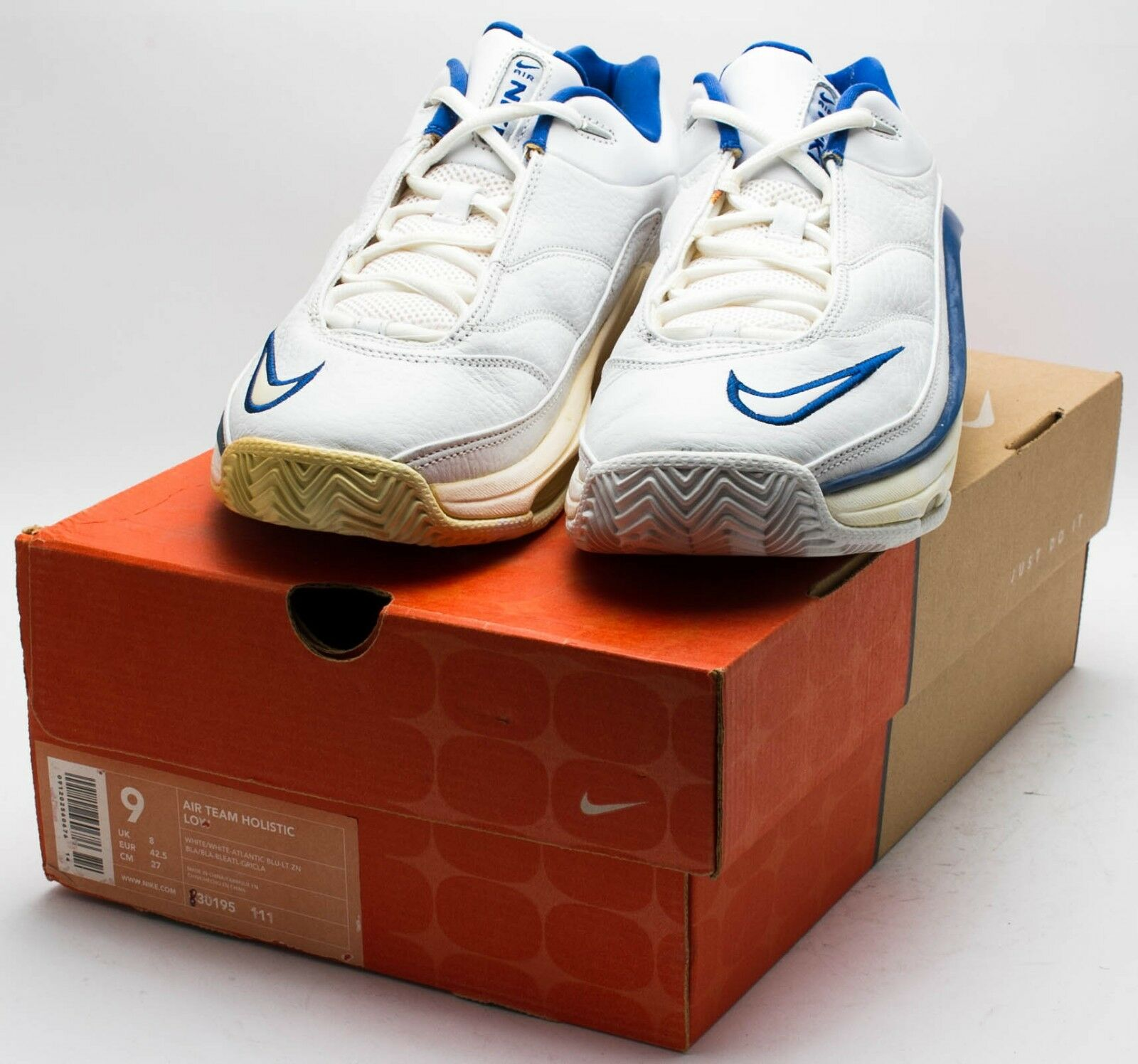 Nike hommes Vintage 2000 Air Team Holistic Low Chaussures 830195-111 blanc sz. 9