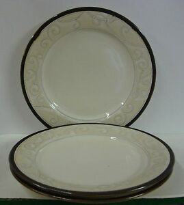 Image is loading Gourmet-Expressions-FLORENCE-CAFE-Dinner-Plates-SET-OF- & Gourmet Expressions FLORENCE CAFE Dinner Plates SET OF THREE | eBay