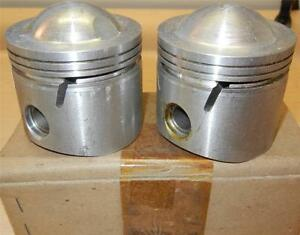 1959-ONLY-Matchless-G12-650cc-NOS-72mm-060-034-Hepolite-15036-pistons-pins-86
