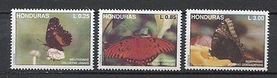 Honduras 1992 Mnh Neu Schmetterlingsarten Schmetterlinge 3v Briefmarken Hingebungsvoll 25080