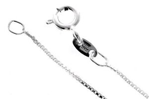 REAL-ITALIAN-925-Sterling-Silver-Box-Chain-16-034-18-034-20-034-GCH002-by-UK-Distributor