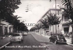 FRANCAVILLA AL MARE:  Viale Nettuno    1963 - auto fiat 500