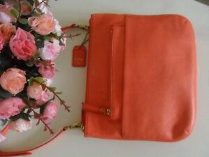 Messenger Pink Bag Leather Shoulder Zip Crossbody Top Fossil Tessa Coral 0EwqnTS