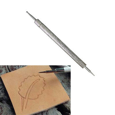 AMPSEVEN Steel Dual Tipped Leather Craf Tool Modeling Point Pen Stylus Spoon for Leather Carving Splicing