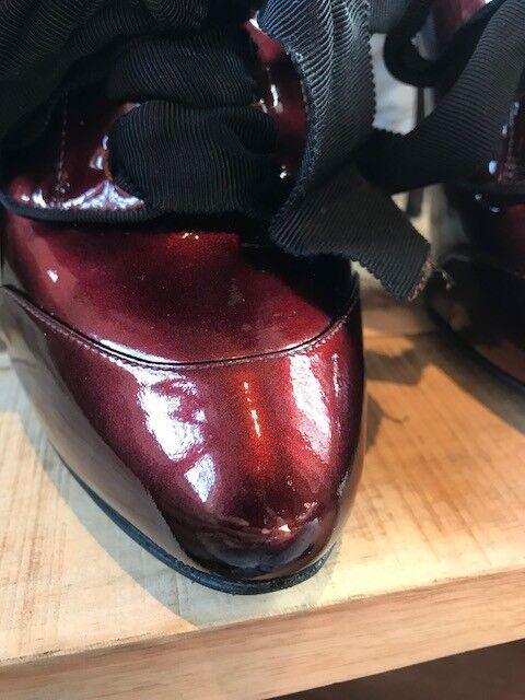 Lanvin Burgundy Lace-Up Lace-Up Lace-Up Pumps - Taille 39.5 IT - 9.5 US 7a3af9