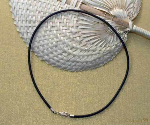 Kautschukkette nach Mass 3mm Kautschukband Kautschuk Halsband Kette schwarz DA
