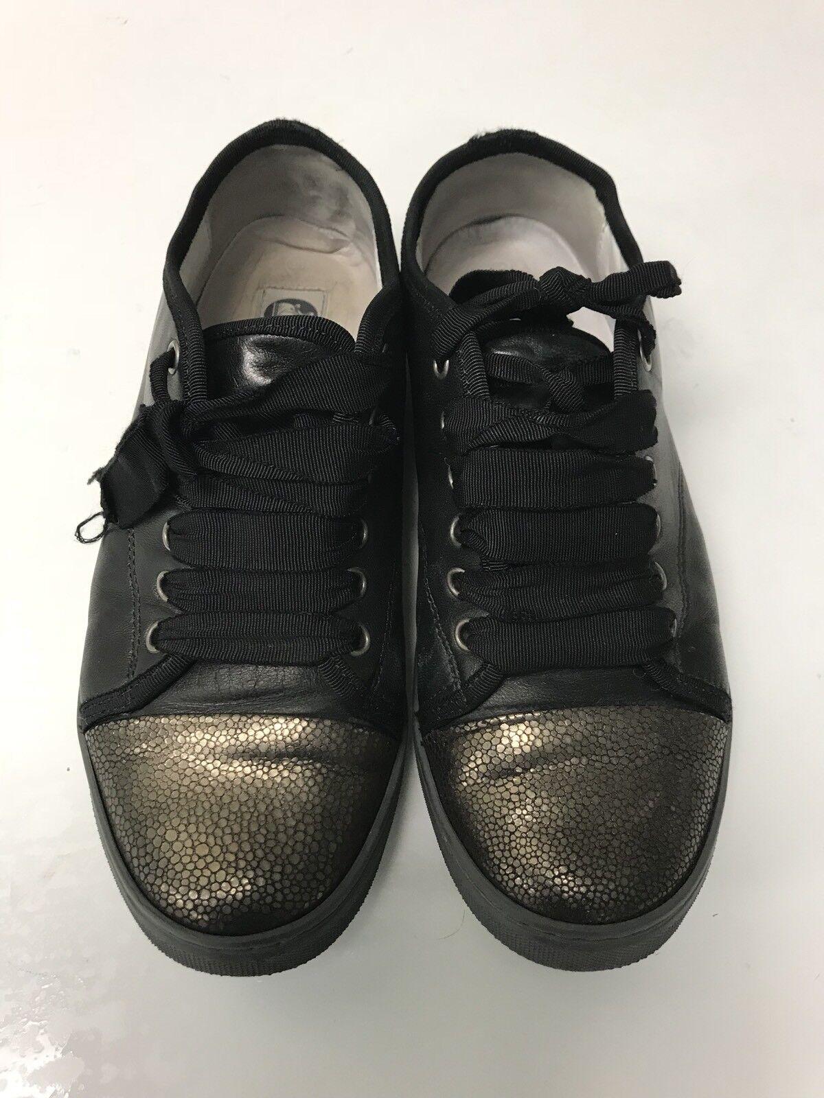 Lanvin Marrón Oscuro captoe para mujer Zapatillas tamaño nos 8 Low Top zapatos