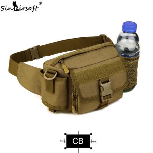 Tactical Molle Fanny Pack taille sac Ceinture Bum Sac Bouteille D/'Eau Homme Sport Randonnée