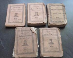 Collezione Migliori Romanzi 5 Volumi 1808-26-27 Dauthereau Parigi Me.in 18