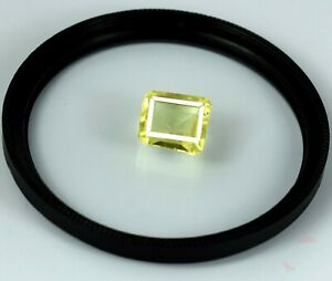 Natural Octagon 6-8 Ct/11 mm Yellow Sapphire Transparent Gemstone AGI Certified