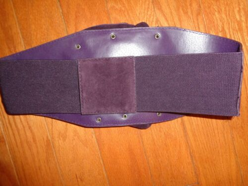 Women/'s Wine Blooming Faux Suede Flower Elastic Stretch Studs Waistband Belt.