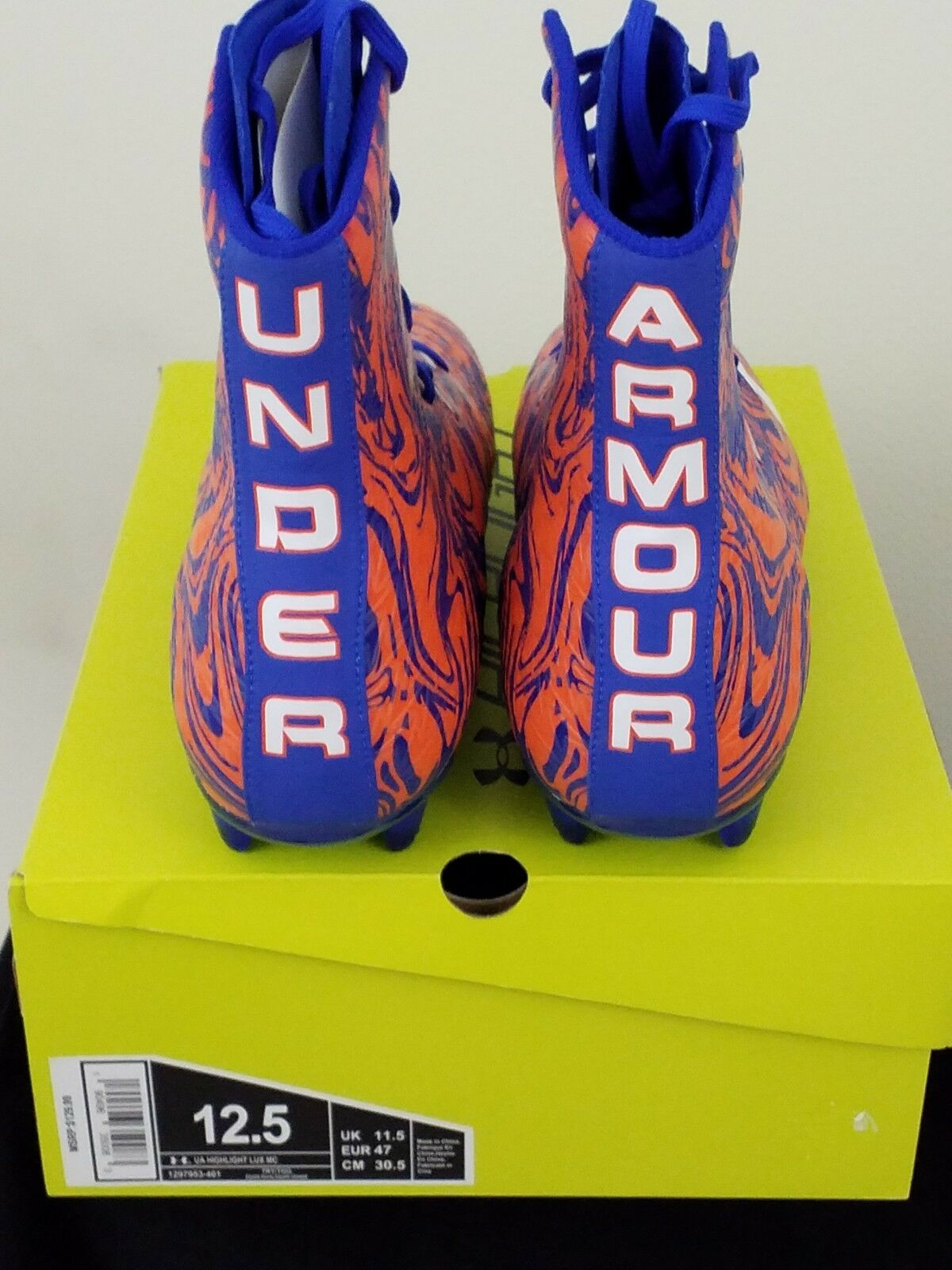Under Armour Uomo UA Highlight Lux Mc Football Cleats arancia/Navy blu blu arancia/Navy size 12.5 6cb0a1