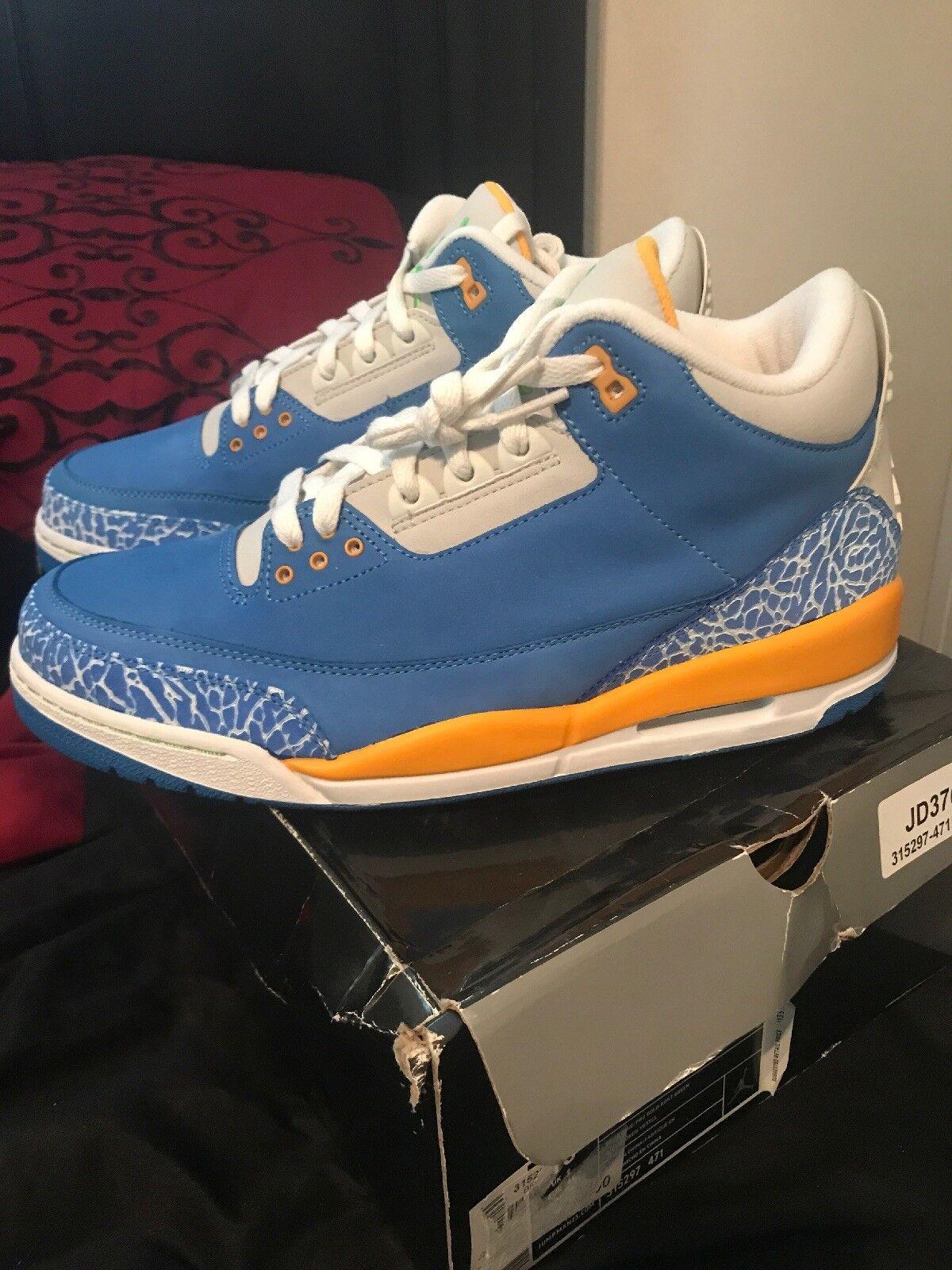sports shoes 542f5 f04da ... sale nueva 2018 nike air jordan iii brisk 3 retro ls dtrt brisk iii  azul pro