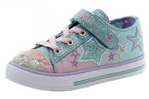 Skechers Toddler Twinkle Wishes Enchanters Light Blue/Pink Sneakers Shoes