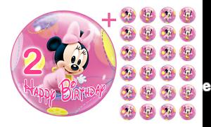 Essbarer-Tortenaufleger-Minnie-Maus-2-DVD-Deko-Muffinaufleger-Tortenbild-Party-CD