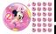 Essbarer-Tortenaufleger-Minnie-Maus-2-DVD-Deko-Muffinaufleger-Tortenbild-Party-CD Indexbild 1