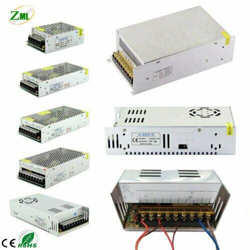 12V Led Power Supply Driver DC5V/24V Transformer Adapter Switch Strip Lights DIY