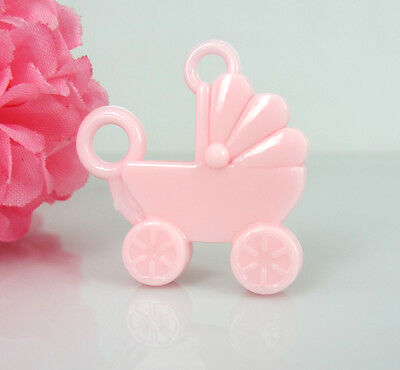 30Pcs Mini Pink Carriage Baby Shower Favors For Party Decorations Girl