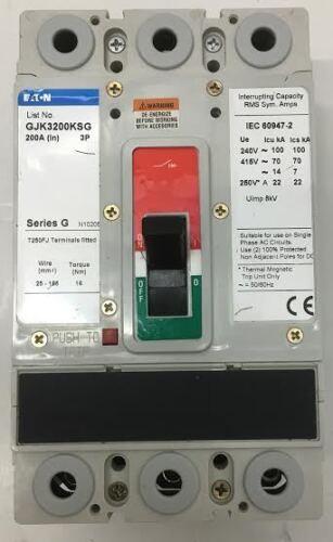 MEM Eaton 200 Amps Triple Pole Main Switch Series G MCCB GJK3200KSG GJS3200AAG