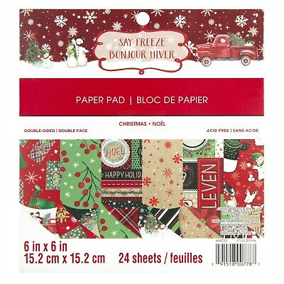 Gingerbread Cottage 15,2/x 15,2/cm Christmas Paper Pad