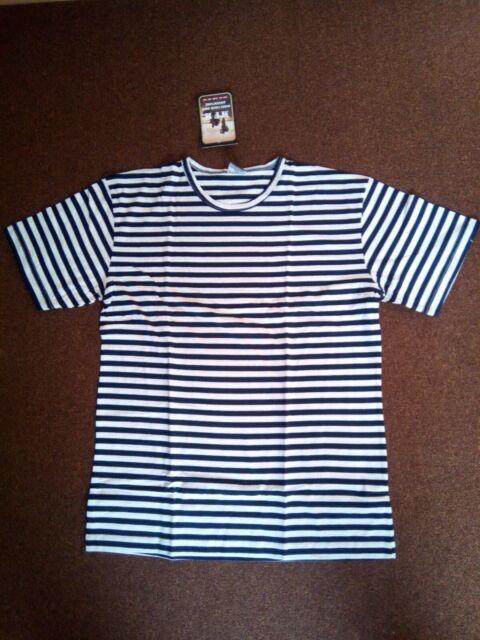 MARINESHIRT Russland gestreift Marinehemd Matrosenhemd T-Shirt Marine blau-weiß