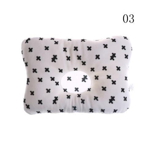 Newborn Baby Breathable Pillow Prevent Anti Roll Flat Head Cushion Pillows ZJP