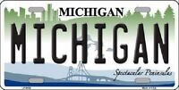 Michigan Novelty Metal License Plate