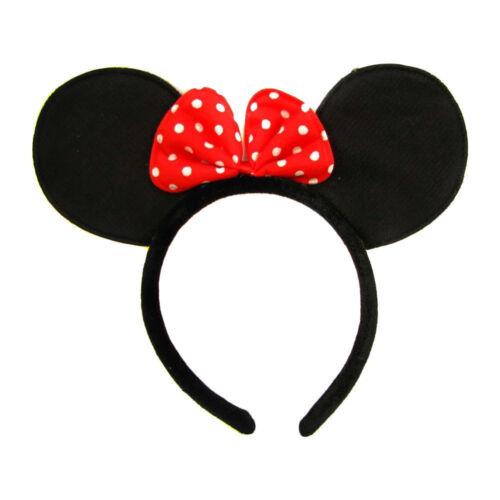 Girls Cartoon Mouse Ears Headband Girls /& Ladies Fancy Dress Accessories