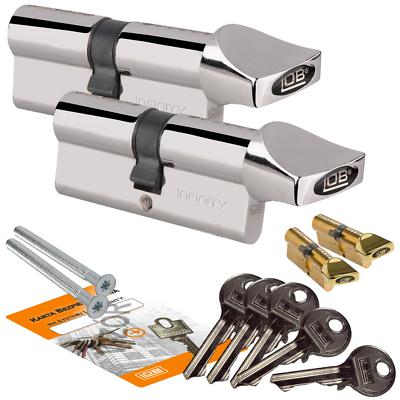 2 X Knaufzylinder Mit 5! Schlüssel Assa Abloy Lob Std! Ein- Schlüssel-system